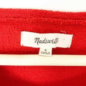 Madewell Tops - Madewell Texture & Thread Red Modern Side-Tie Top